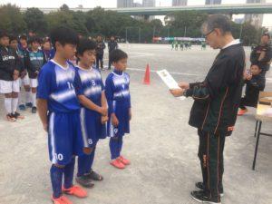 第5回三井のリハウス 東京都U-12 サッカー8ブロックリーグ 後期リーグ
